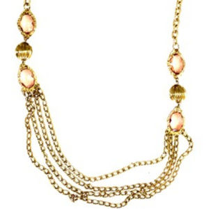 Jewelry - Huge Gold Multi Chain/Lucite Runway Necklace